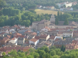 Town of Penafile viewed from Penafiel Castle