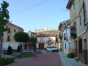 Penafiel Plaza with view of Penafiel Castle