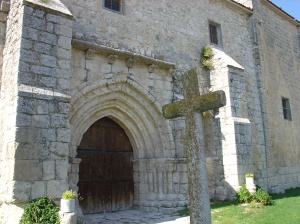 Iscar medieval church and cross
